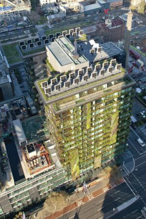 Kennovations heliostats at One Central Park condominium by Jean Nouvel