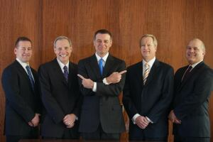 HE DID IT: The UDR executive team includes (L to R): David Messenger, senior vice president and CFO; Warren Troupe, senior executive vice president, general counsel, and corporate secretary; Tom Toomey, president and CEO; W. Mark Wallis, senior executive vice president; and Jerry Davis, senior vice president of property operations.