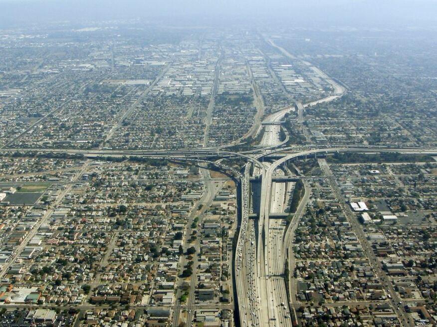 Los Angeles freeway interchanges.