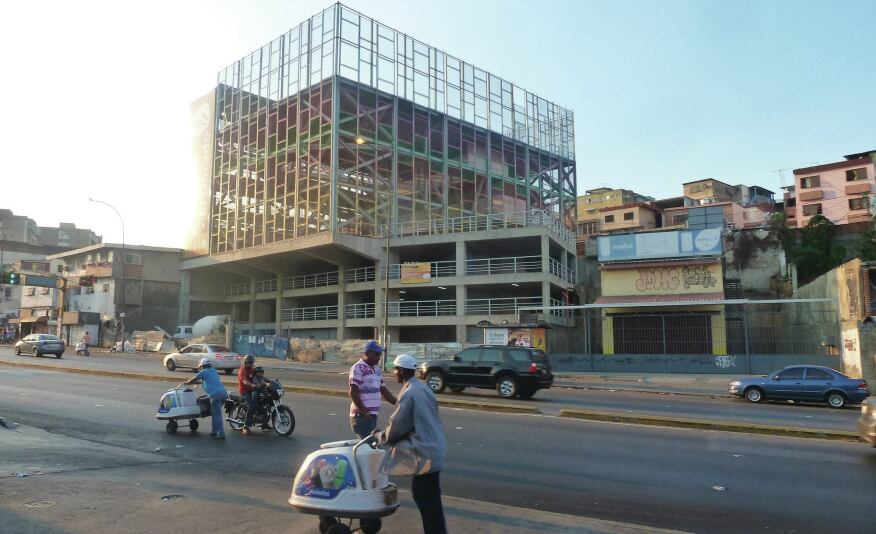 A vertical gym under construction in the El Dorado barrio of Caracas.