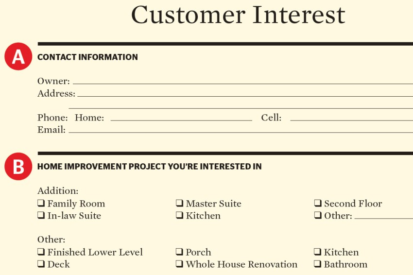 Hunting & Gathering: Using a Customer Interest Form