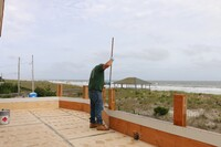 Fiberglassing an Exterior Deck
