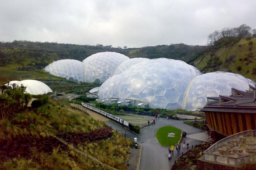 Nicholas Grimshaw's Eden Project in Cornwall, England