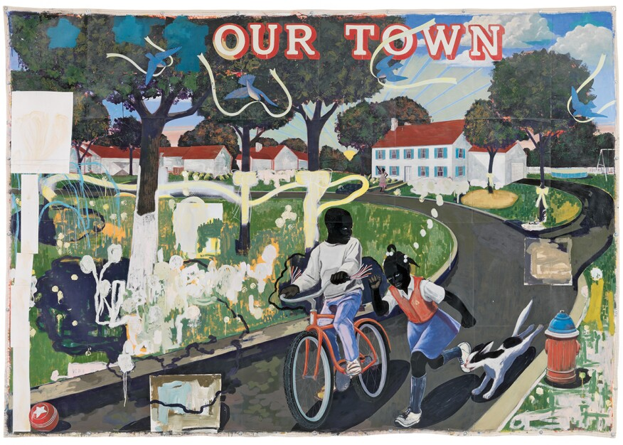 Our Town (1995) by Kerry James Marshall