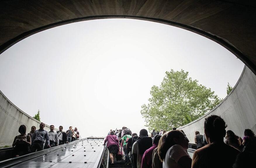 The escalators at the Dupont Circle station.