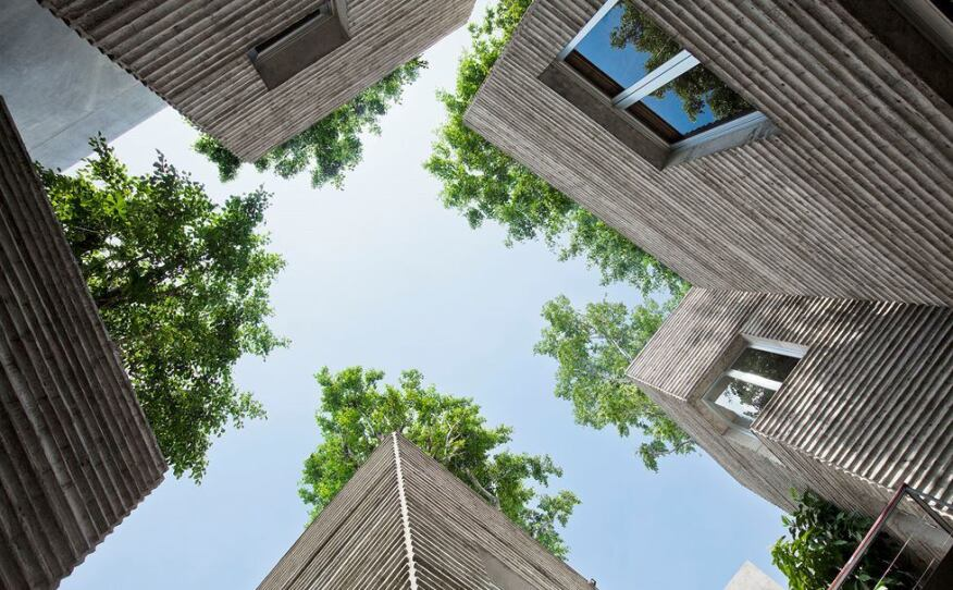 House for Trees, designed by Vo Trong Nghia Architects, in Ho Chi Minh City, Vietnam.
