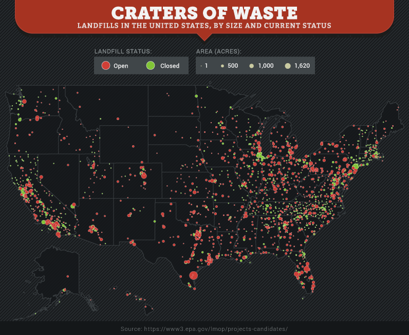 These Maps Show How Much Of The US Is Covered In Landfills - Us hw map