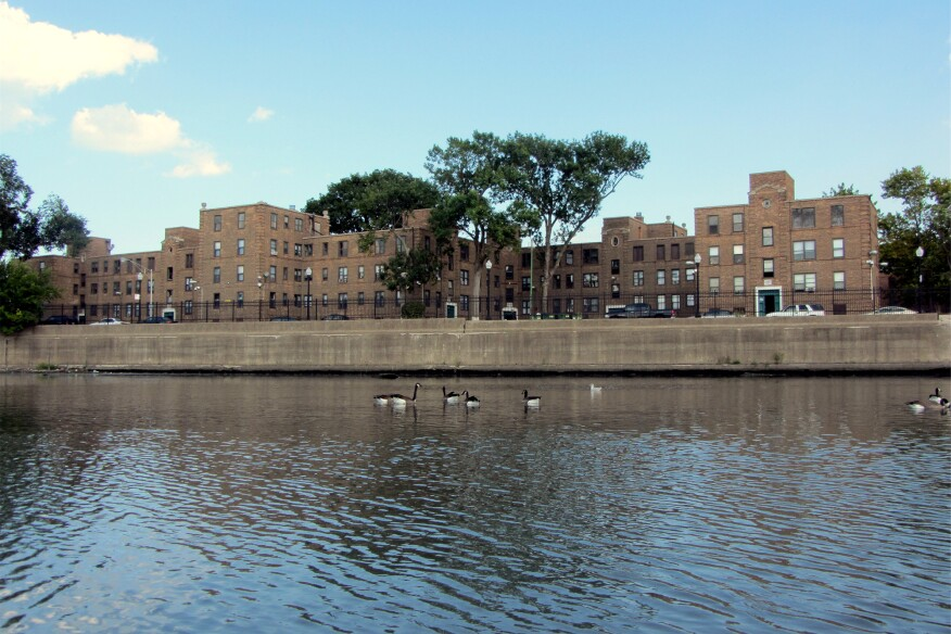 The Lathrop homes in 2016