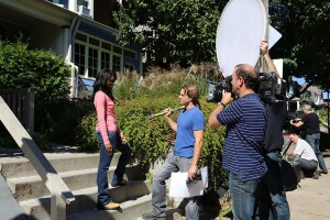 "Scott McGillivary filming episode 105 of ""Income Property"""