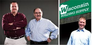 JOINING THE TEAM: Left photo: Hall & House of the Indianapolis area and the Chicago area's Edward Hines Lumber became part of U.S. LBM in April. They're led by Jeff Hall (left) and Gerald Wille. Right photo: Allan Breidenbach manages Wisconsin Building Supply's operations in Green Bay and Appleton, Wis. Green Bay also serves as U.S. LBM's official headquarters, housing a small central staff.