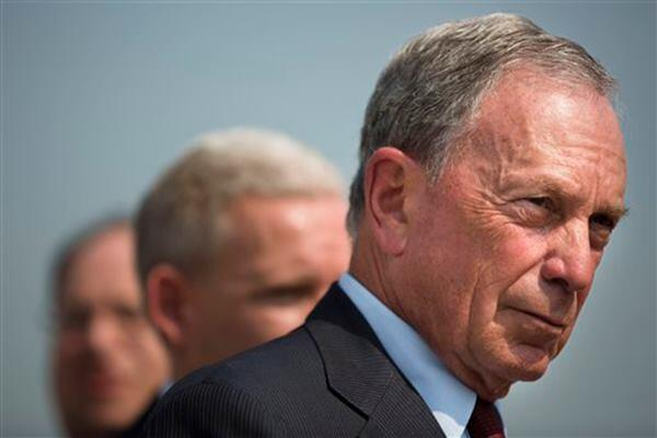New York City Mayor Michael Bloomberg speaks to the media during a news conference on Aug. 28.