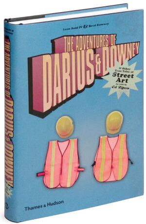 • As told to Ed Zipco by Leon Reid IV and Brad Downey  • With the heft of a respectable tome on art theory comes a true-crime story with two lovable vandals as the villains. Darius and Downey met in 2000 while students at Pratt and quickly evolved from graffiti taggers to masters of surprise who work by the light of day. Dressed as city workers, they calmly swap messages on street signs or bend poles into a delicate kiss. A photo gallery of projects illustrates their works' shelf life, sometimes as brief as an hour. Thames & Hudson; $29.95