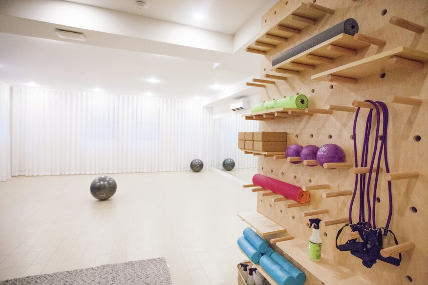 A fitness room at Havemeyer Home.