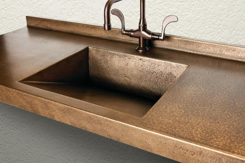 Sonoma Cast Stone's MetalCrete Sinks