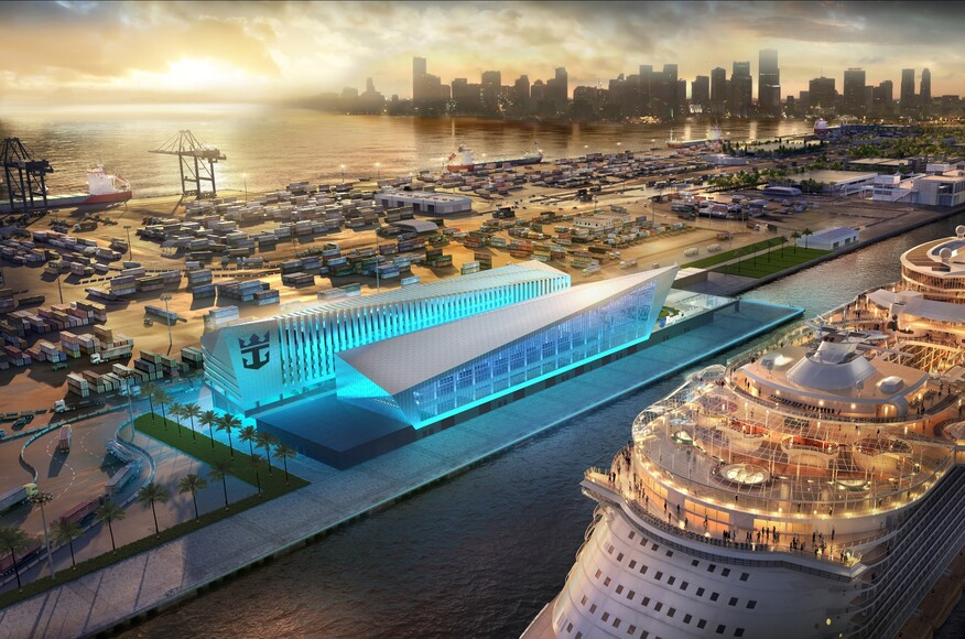 Miami Cruise Terminal Architect Magazine Broadway Malyan Miami Fl Usa Transportation
