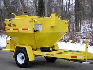 Trailer-mounted asphalt recycler