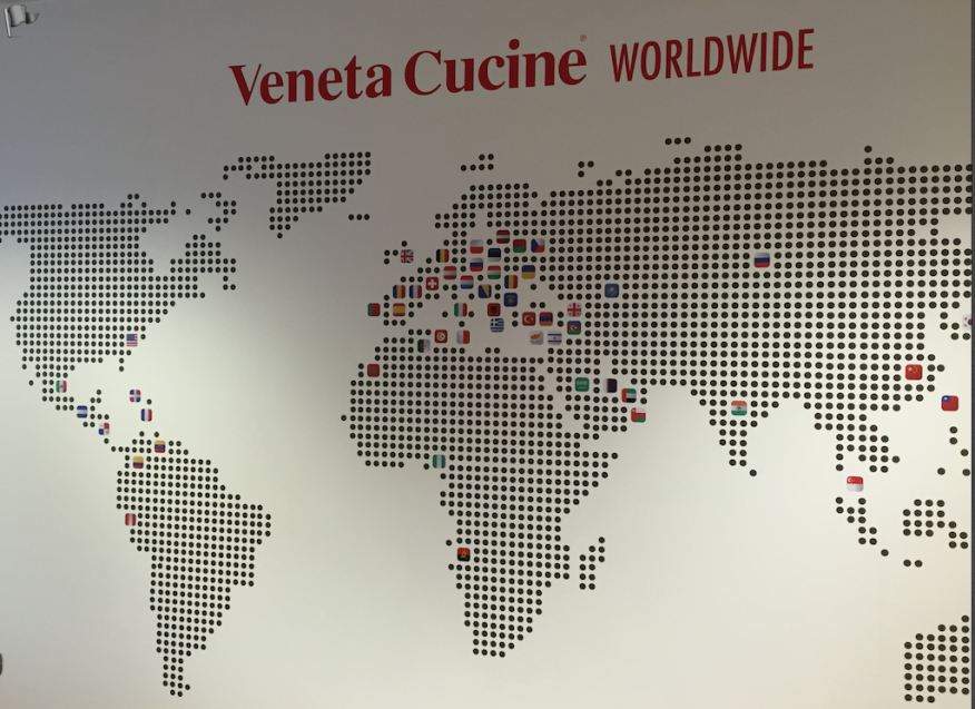 Veneta Cucine worldwide footprint