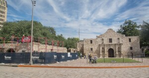 A roof repair at the Long Barrack, part of the Alamo Complex in San Antonio, Texas, presented unusual challenges to the contractor.