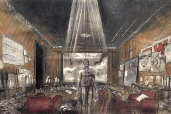Ferretti's sketching of the drawing room from The Aviator.