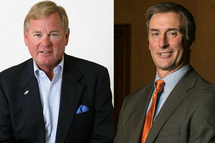 NSPF Chairman Bruce Dunn (left); APSP Chairman Rich Garbee