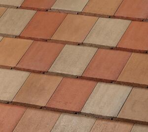 MonierLifetile. The company has added three new colors—goldenrod, Charleston, and dunes tan—to its line of concrete roof tiles that exceed LEED requirements for a Solar Reflectance Index (SRI) of 29. The color-through tiles resist surface damage and degradation, the company says. The three colors are available in a Del Sol custom blend (shown). 800.571.8453. www.monierlifetile.com.