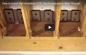 Video Series - Part 1: Pre-Insulation Walk Through