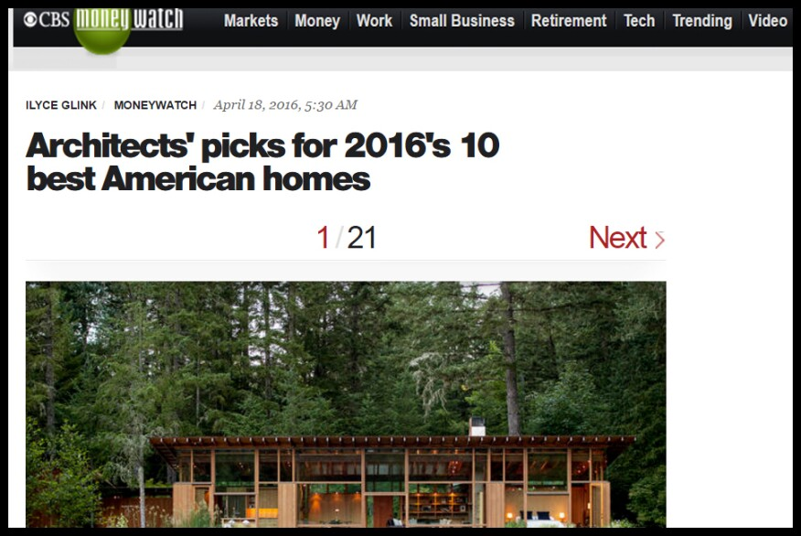 Just one example of the coverage that AIA awards have received in the national press.