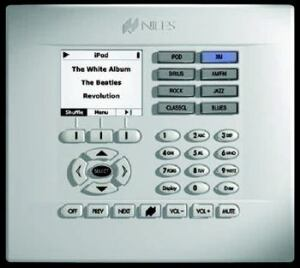 USER-FRIENDLY: This display panel from Niles Audio lets home buyers select their music the  way they would on an iPod.