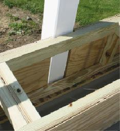 Figure 4. Keeping the plywood above the decking prevents it from wicking water, which could eventually cause delamination.