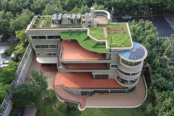 Designed by Laszlo Hudec, the green house in Shanghai opened to the public for the first time on Saturday in recognition of China's annual cultural heritage day. The 1938 house was the first in the city to have an elevator and air conditioning.
