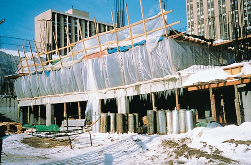 Cold weather concreting 101 concrete construction for Concrete freezing