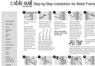 CableRail Assemblies Installation - Metal Railings