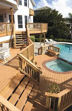 Now that CCA-treated wood will be phased out, plastic-wood manufacturers such as LP   expect demand and consumer awareness to increase rapidly. (LP's WeatherBest decking shown here.
