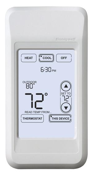 With the Portable Comfort Control, users can remotely set the FocusPro thermostat to the ideal temperature from any room, even in zoned systems.