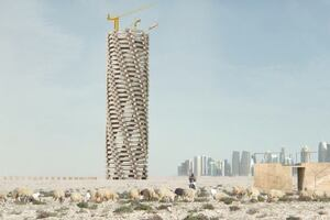 Conceptual Qatar World Cup Memorial Tower Raises Awareness of Rising Death Toll