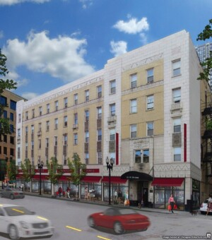 The NHP Foundation will redevelop the Mark Twain Hotel in Chicago, with plans to add kitchens to each unit and community space to the property.