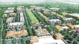 A sketch of the proposed layout for Rea Homes, a master-planned community under development in Charlotte.