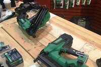 Testing out Hitachi 18-Volt Cordless Nailers