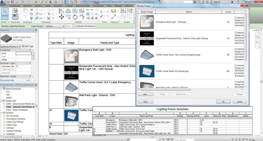 Revit 2015 enables images to appear in project schedules.