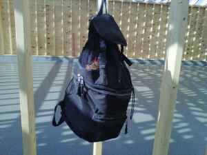 A backpack cooler is a great place to carry and store items at a jobsite.