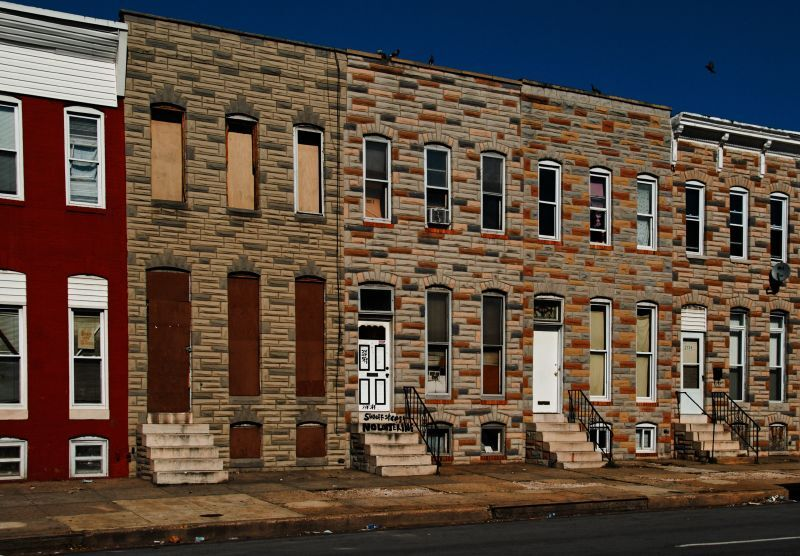 Baltimore row houses.