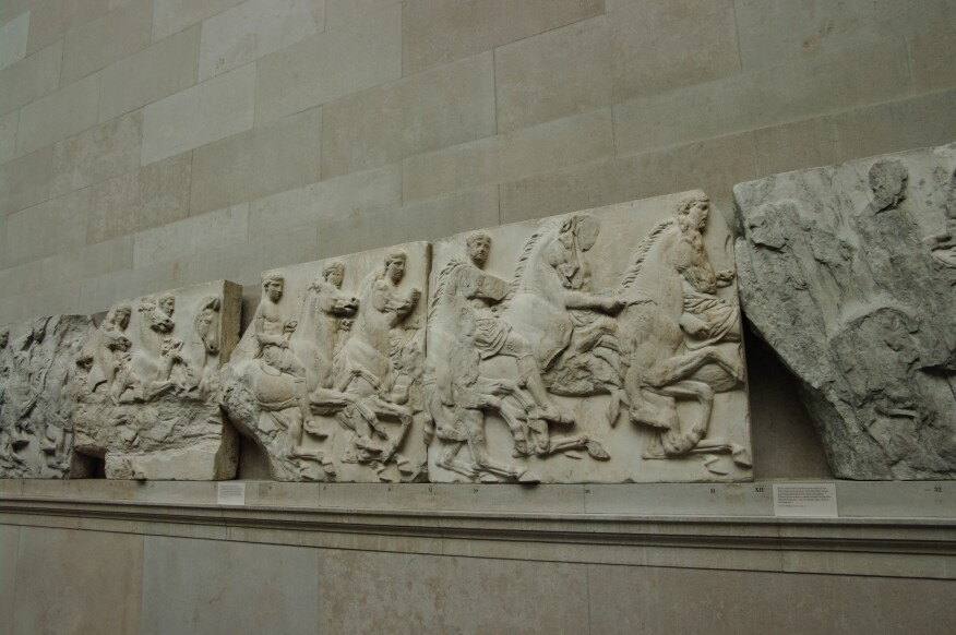 Elgin Marbles from the Parthenon at the British Museum.