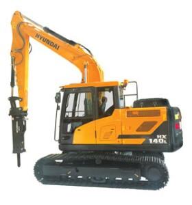 The HX140L excavator