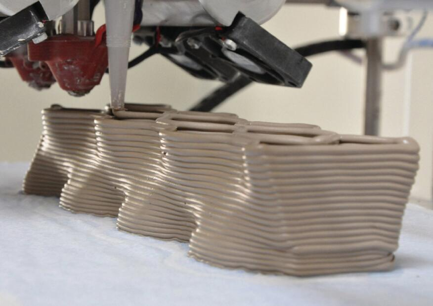 When the initial brick prototype was 3D rinted, the fabrication system was not properly tuned yet.