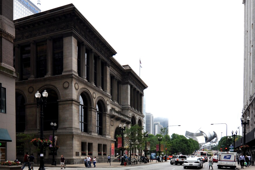The Chicago Cultural Center (left) is the hub of activity for the Chicago Architecture Biennial, which runs from October 2015 through January 2016.
