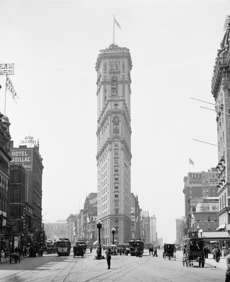 1 Times Square when it opened in 1908