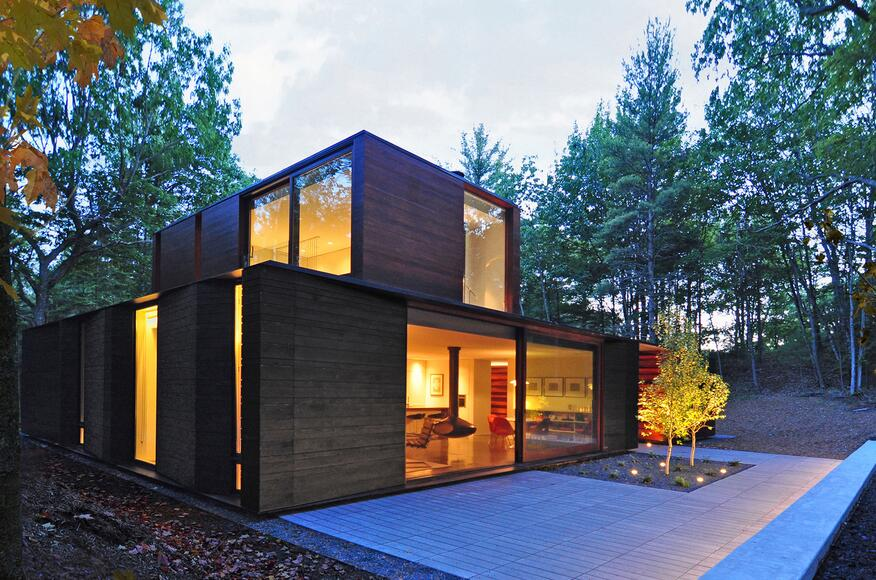 Pleated house residential architect johnsen schmaling for Modern residential architects