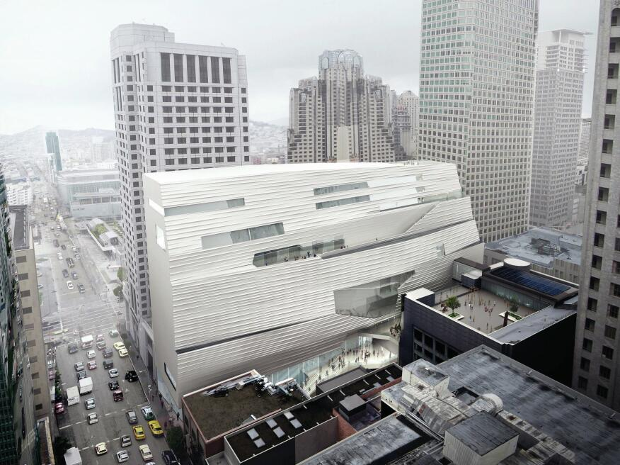 The planned addition to the San Francisco Museum of Modern Art