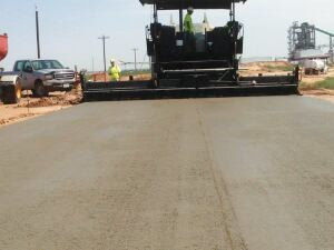 RCC pavement is rougher than conventional pavement but strong and durable.