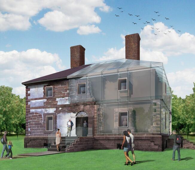 Machado and Silvetti to Encase Historic Menokin House in Glass